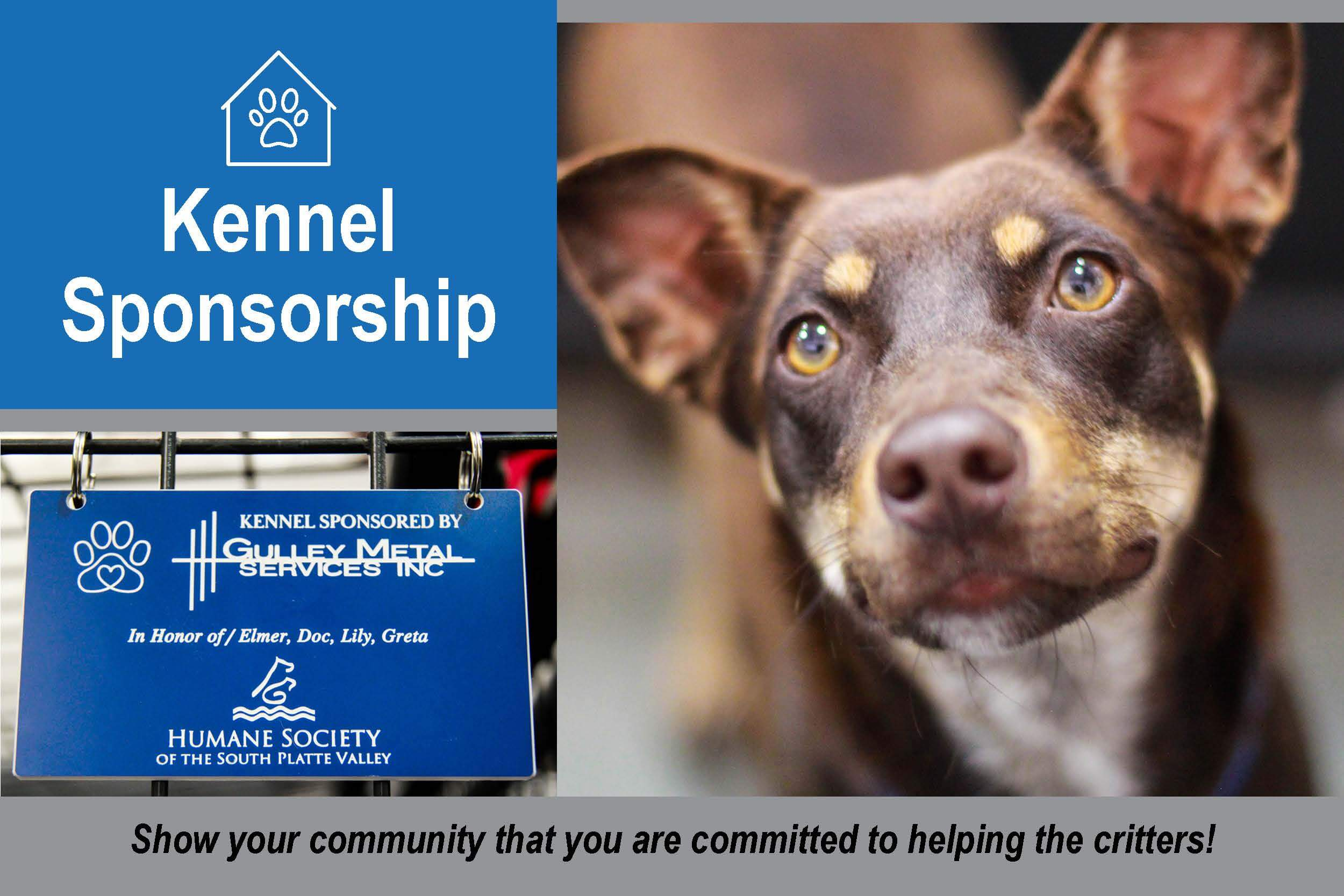 Sponsor a Kennal at HSSPV